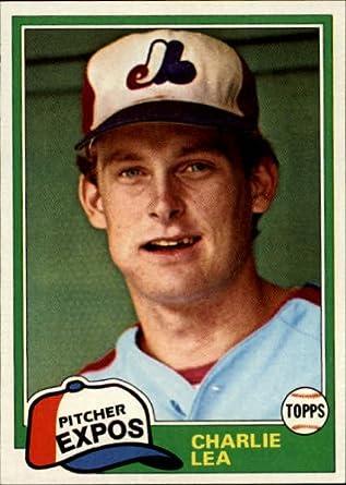 Amazoncom 1981 Topps Baseball Rookie Card 293 Charlie Lea Mint