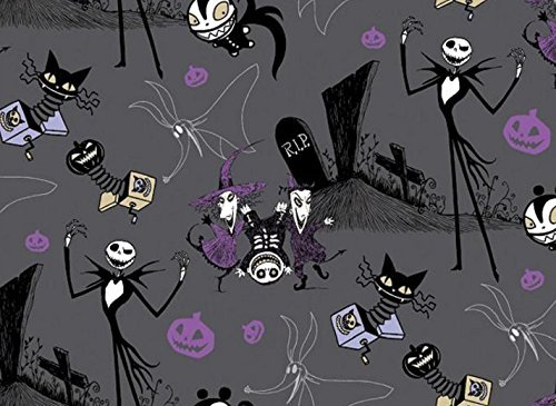 Disney Nightmare Before Christmas Jack in the Boxes Fabric Sold by the Yard]()