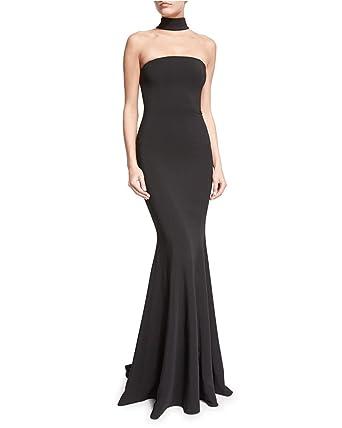 Quge Women Classic Fishtail Dress Halter Neck Maxi Formal Evening Party Cocktail Banquet Ball Gown Dresses