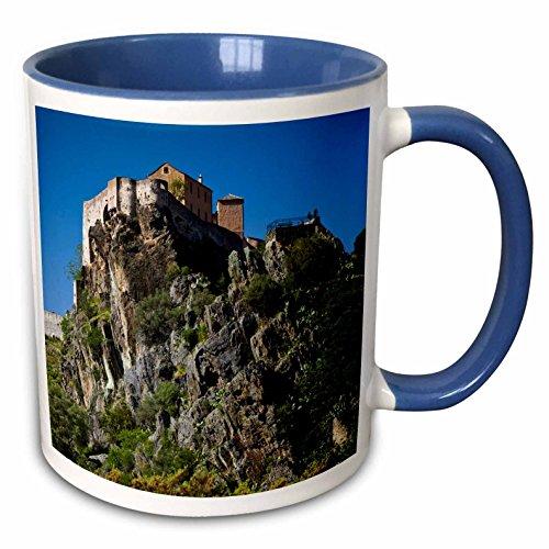 3dRose Danita Delimont - France - France, Corsica, Citadel, Nid de Aigle,  donjon - EU09 WBI3503 - Walter Bibikow - 15oz Two-Tone Blue Mug