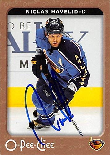 Autograph 212153 Atlanta Thrashers Ft 2006-2007 O-Pee-Chee No. 27 Niclas Havelid Autographed Hockey Card