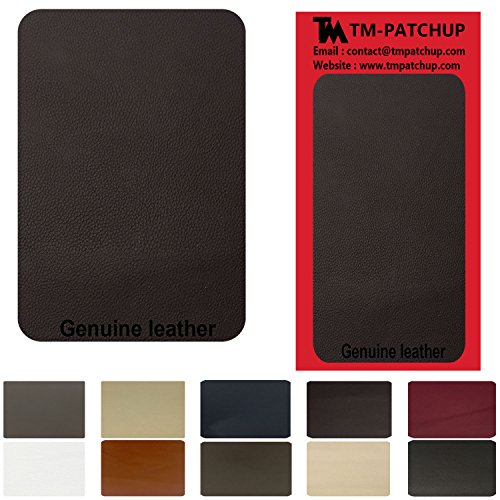 - Dark Brown Leather and Vinyl Repair Patch by TMgroup, Genuine Faux Leather Repair Patch, Peel and Stick for Couch, Sofas, car Seats, Hand Bags,Furniture, Jackets, Large Size 3'' x 6''
