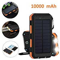 Solar Charger Power Bank, Hompie 10000mA...