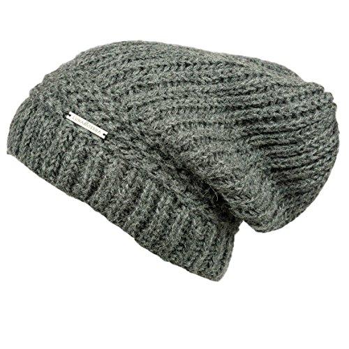 Baby Alpaca Beanie Hat (LUNA & TERRA - ANCONA Hat Beanie Hand Knitted 100% BABY ALPACA (Oxford Grey))