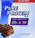 Pure Protein Chewy Chocolate Chip Bar, 4Pack (12 Count Each )