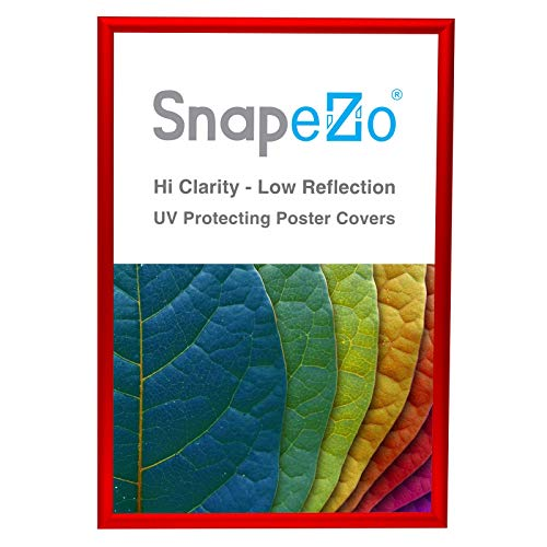 SnapeZo Poster Frame 20x30 Inches, Red 1 Inch Aluminum Profile, Front-Loading Snap Frame, Wall Mounting, Sleek -