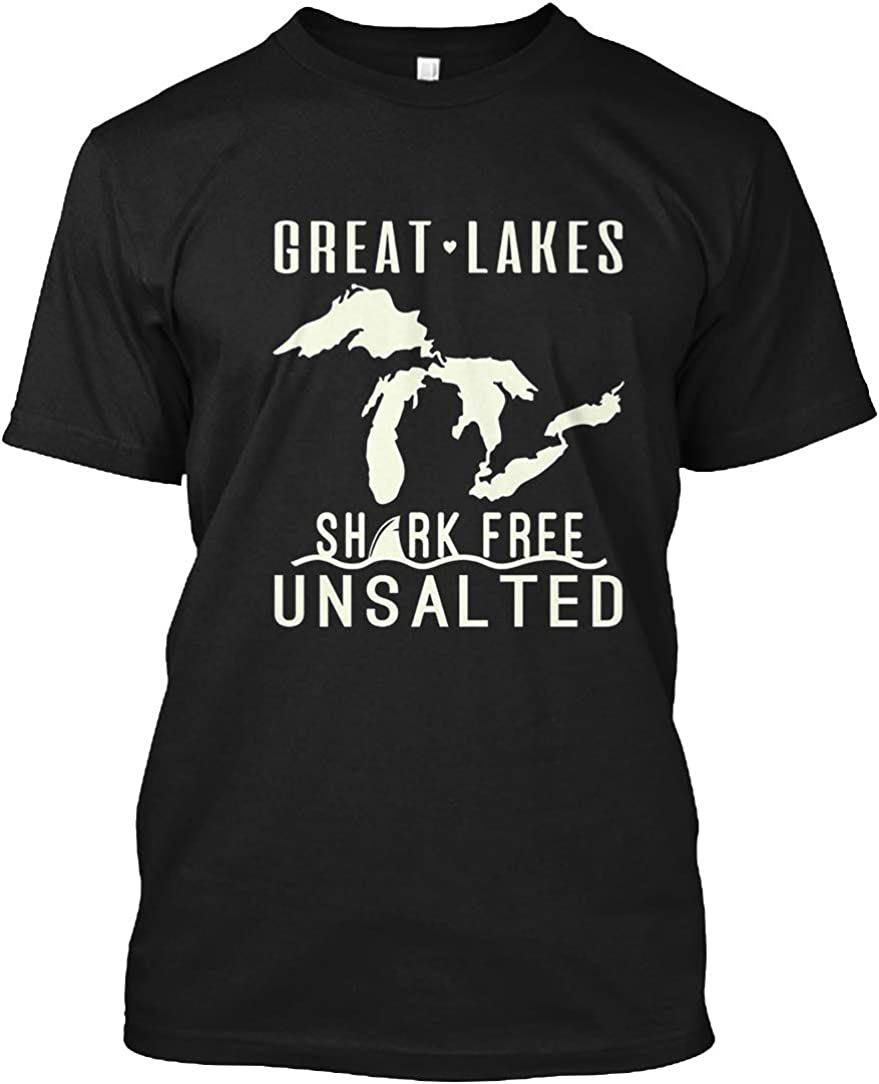 Great Lakes Shark Free Unsalted T-Shirt - Hanes Tagless Tee