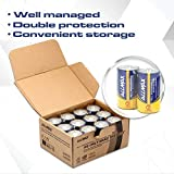 ALLMAX All-Powerful Alkaline Batteries- D (12-Pack), Ultra Long Lasting, Leak-Proof, 1.5V Cell