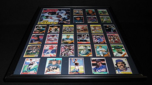 1987 World Series Teams - 1987 Minnesota Twins World Series Champions Team Signed Framed 18x24 Photo Set