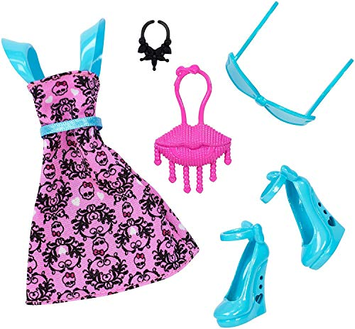 Monster High - DNX60 - Complete Look Draculaura - Deluxe Doll Costume Clothing Fashion Pack -