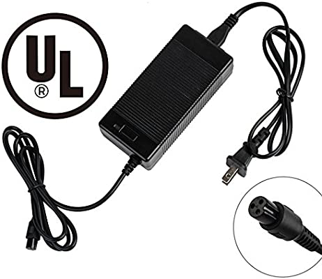 EVAPLUS UL 42V 1.5A AC/DC Charger PowerFast 3-Prong Inline Connector for 36V Pocket Mod, Sports Mod Lithium Battery, Battery Charger for Millet ...