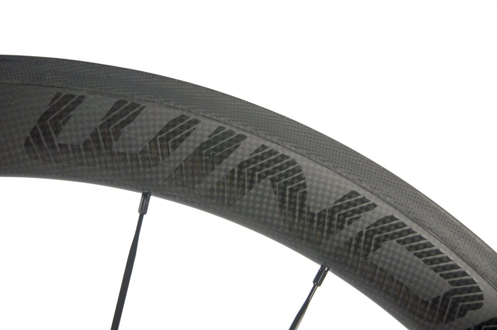 Sunrise Bike Carbon Road Wheels 700C 50mm Clincher Wheelset 3k Matte Finish with Decal by SunRise (Image #6)