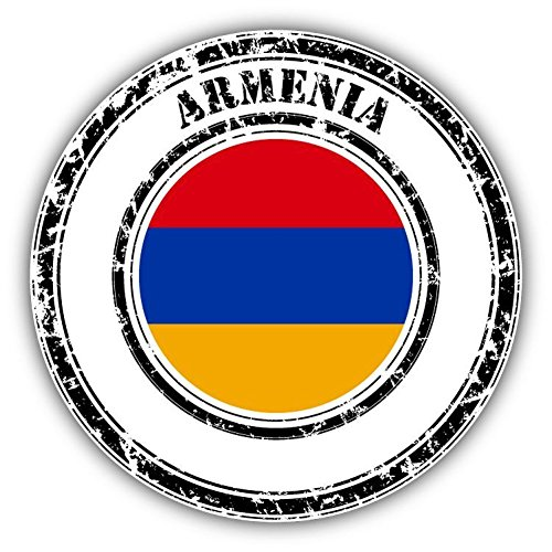 Armenia Flag Grunge Rubber Stamp Vinyl Decal Bumper Sticker 5
