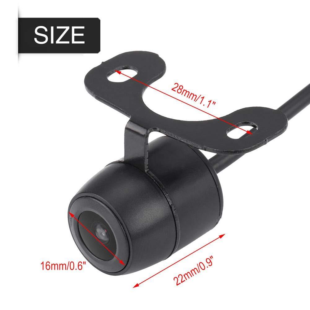 Hlyjoon Backup Camera 170 Degrees Wide Angle Car Vehicle Reverse Camera Waterproof External Hanging Night Vision Parking Rear View Camera Universal