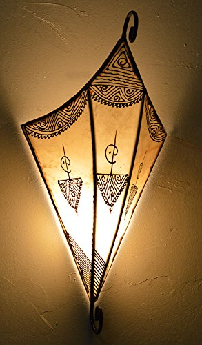 (Henna Lamps & Sconces Moroccan Handmade Goat Leather Sconce Henna Tattoo Shade)