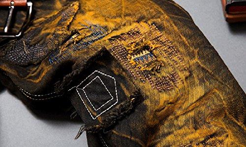 Larga Colore As Pantaloni Picture Skinny Gamba Nostalgico Jeans Per Uomo Motocicletta qU1Bwfx