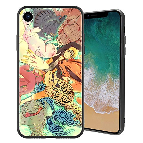 ACG Naruto 157 Design, Tempered Glass Case for iPhoneXR, Soft Silicone Bumper Anti-Scratch Ultra-Thin, iPhoneXR Phone Cover for Girls, Teens