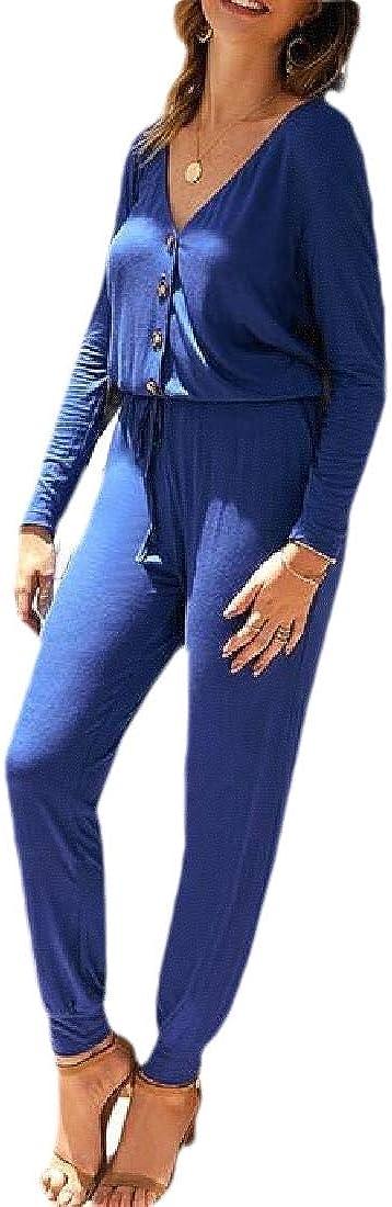 RRINSINS Womens Summer Long Sleeve Off Shoulder Rompers Wide Leg Jumpsuit