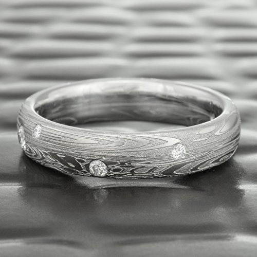 Diamond Damascus Wedding Ring | TIDEPOOLS