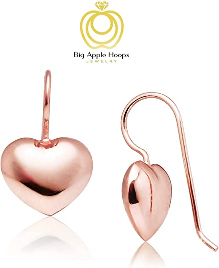 Caramel Apple Resin Jewelry Heart Hoops Lotta Love Earrings