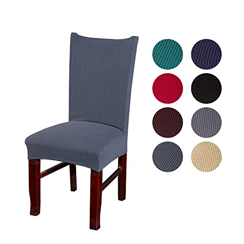 Price comparison product image FUNK Chair Covers Dinning Room,  Jacquard Polyester Spandex Dining Seat Protector,  Stretch Chair Slipcovers