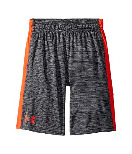 - Under Armour Kids Boy's Instinct Printed Shorts (Big Kids) Stealth Gray/Neon Coral/Stealth Gray Large