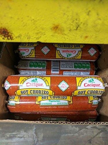 Cacique Soy Chorizo Sausage 9 Oz (8 Pack)