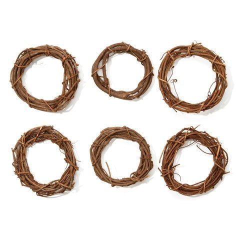 (Darice Bulk Buy DIY Grapevine Wreath Natural 6 inches (6-Pack) GPV6 )