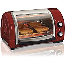 Hamilton Beach Easy Reach Toaster Oven, Red (31337)