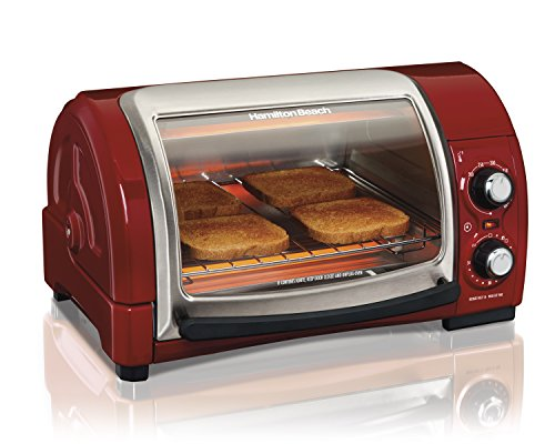 Hamilton Beach Easy Reach Toaster Oven, Red - Best Sellers For Toaster Oven