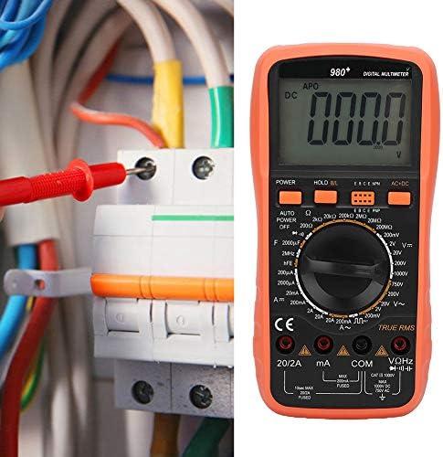 980 Multimeter, Digital AC/DC Multimeter AC/DC Voltage AC Current Resistance Tester, Portable LCD Digital Multimeter Electrical Meter