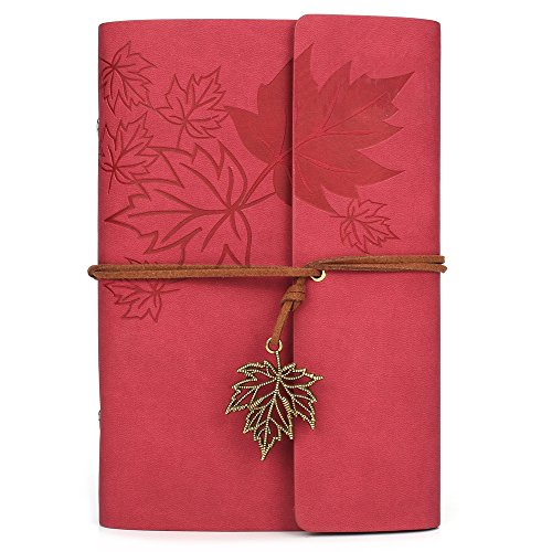 (Leather Writing Journal Notebook, MALEDEN Classic Spiral Bound Notebook Refillable Diary Sketchbook Gifts with Unlined Travel Journals to Write in for Girls and)