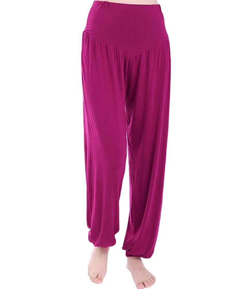 Baymate Womens Modal Harem Pants Baggy Yoga Sports Dance Trousers Plus Size
