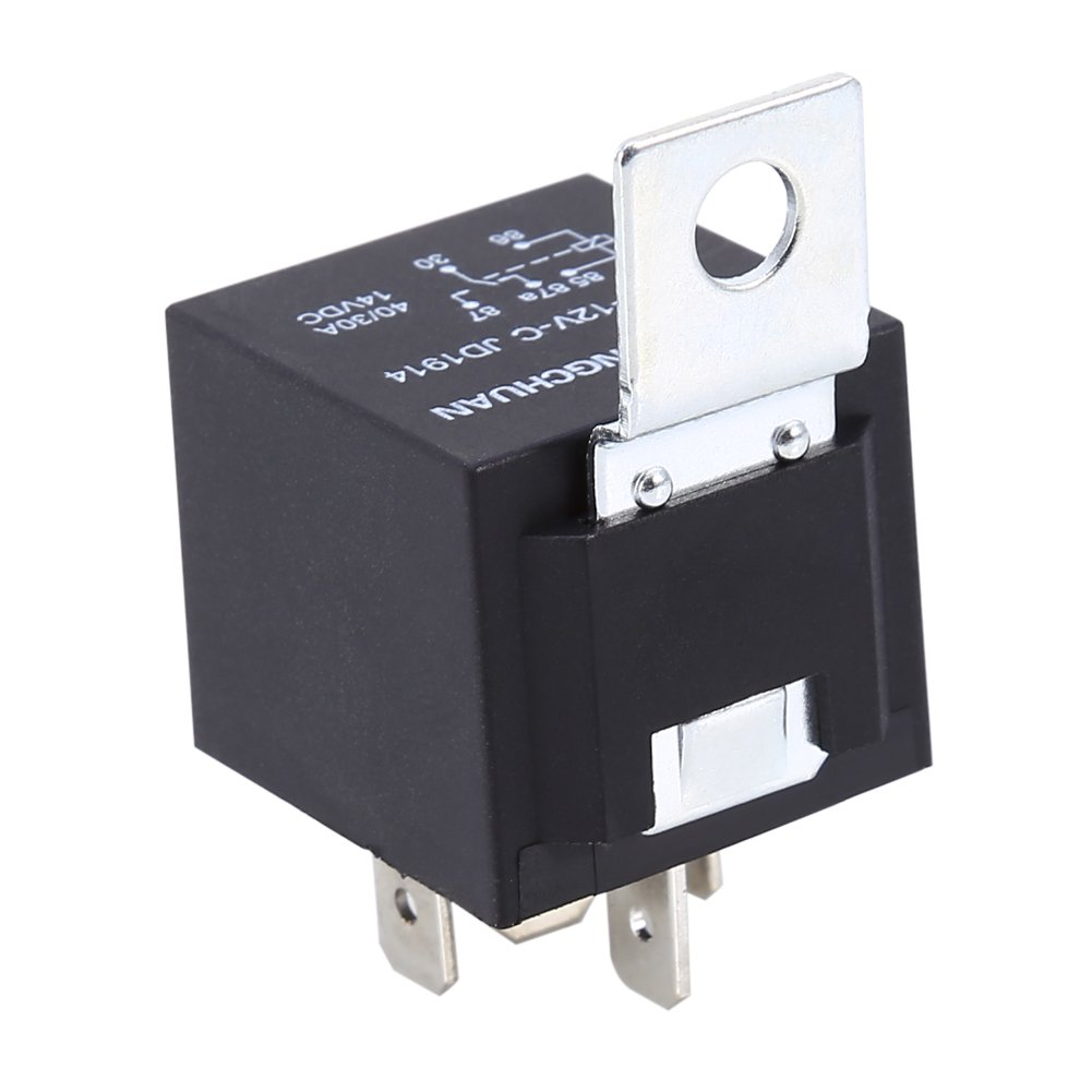 5 X Car Truck Auto DC 12V 40A 40 AMP SPST Relay Relays Socket SPDT 5 Pin 5 Wire