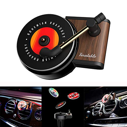 FOONEE Car Air Vent Fragrance Diffuser, New Cute Record Player Car Air Freshener Holder Container, Turntable Car Air Outlet Perfume Aroma Clip Diffuser Decor