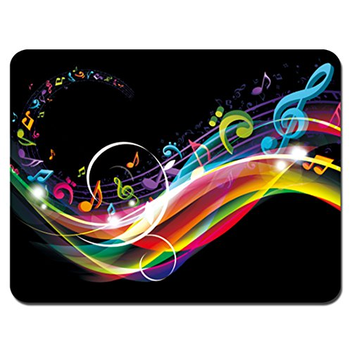 Rainbow Optical Mouse - Meffort Inc Standard 9.5 x 7.9 Inch Mouse Pad - Rainbow Music Note