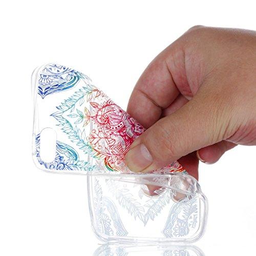 Crisant Schönes Muster Drucken Design weich Silikon Ultra dünn TPU Transparent schutzhülle Hülle für Apple iPhone 5 5S / SE,Premium Handy Tasche Schutz Case Cover Crystal Bumper Schale für Apple iPhon