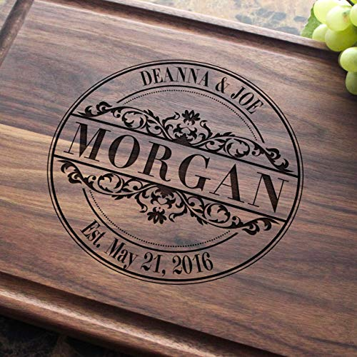 Round Vintage Personalized Engraved Cutting Board,Wedding, Anniversary Gifts, Housewarming Keepsae,Birthday, Corporate, Award, Promotion #010