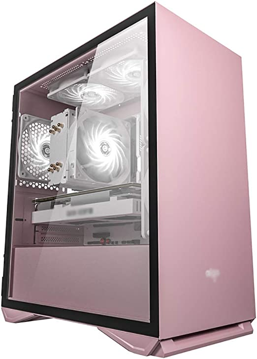 Mid-Tower ATX//M-ATX//M-ITX PC Gaming Computer Case,Acrylic Glass,for Desktop PC Computer,Black WSNBB Gaming Case