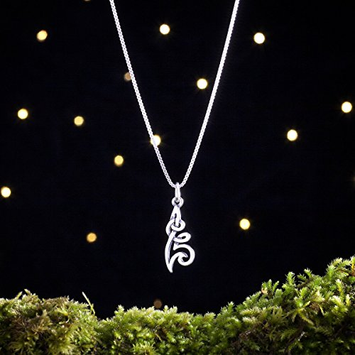 (Sterling Silver Celtic Flower Knot - Small, Double Sided - (Charm, Necklace, or Earrings))