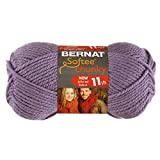Bernat Softee Chunky Yarn, Lavender, Single Ball
