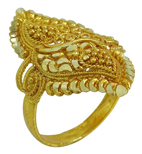 Banithani concepteur bollywood plaqué or traditionnel indien femmes anneau de bijoux