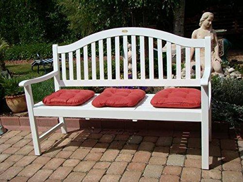 Dekorative Gartenbank mit ausklappbarem Tisch 3 Sitzer