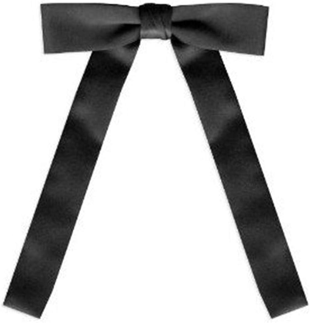 Black Satin Western Tie