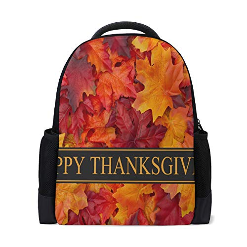 ksgiving Card Personalized Shoulders Bag Classic Lightweight Daypack for Men/Women/Students School ()