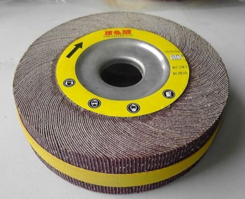 Premium FLAP WHEEL 6'' x 2'' with 1'' bore Unmounted 120 grit