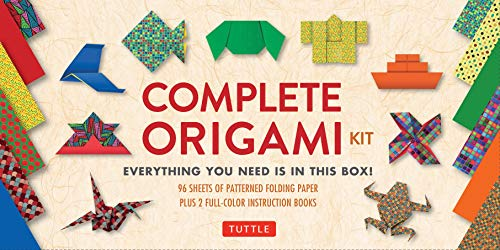 Complete Origami Kit: [Kit with 2 Origami How-to Books, 98 Papers, 30 Projects] This Easy Origami for Beginners Kit is Great for Both Kids and -