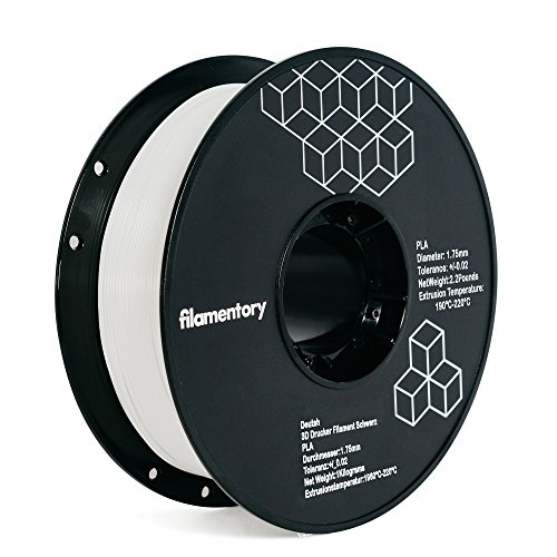 Filamentory 3D PLA-2.2LBS 1.75-GLOW PLA 3D Printer Filament, Dimensional Accuracy +/- 0.02 mm, 1 kg Spool, 1.75 mm, Glow in the Dark
