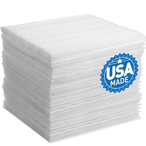 "Foam Wraps, DAT 12"" x 12"" Foam Wrap Sheets Cushioning for Moving Storage Packing and Shipping Supplies, 50-Pack (White) (B0742Y1X9Y)"