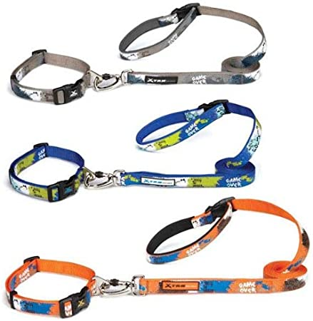 Casual Canine ZW4420 10 69 Xtrm Game Over Collar 10-16 en Naranja ...
